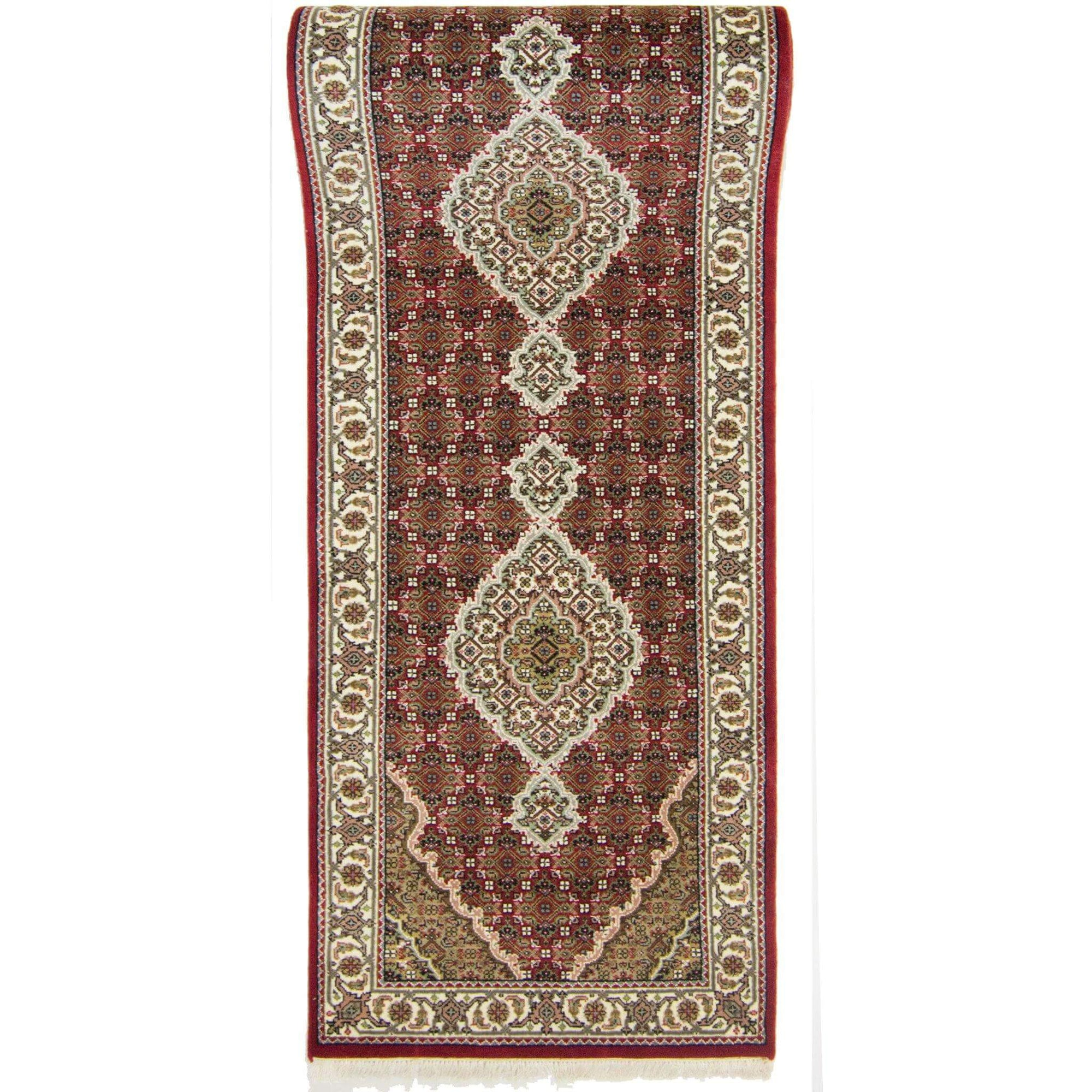 Super Fine Hand-knotted Wool and Silk Tabriz - Mahi Runner 83 cm x 302 cm Persian-Rug | House-of-Haghi | NewMarket | Auckland | NZ | Handmade Persian Rugs | Hand Knotted Persian Rugs