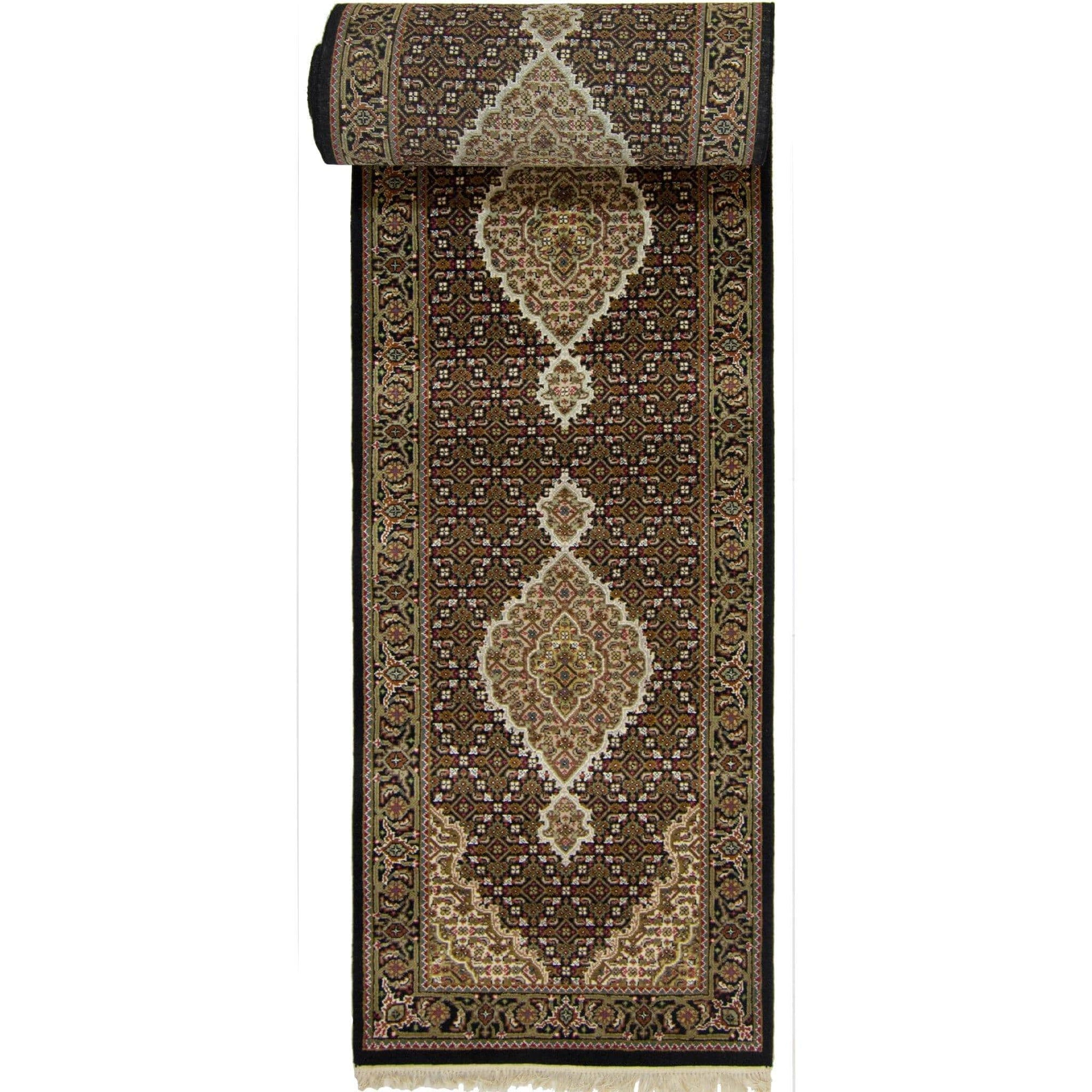 Super Fine Hand-knotted Wool and Silk Tabriz - Mahi Runner 82 cm x 402 cm Persian-Rug | House-of-Haghi | NewMarket | Auckland | NZ | Handmade Persian Rugs | Hand Knotted Persian Rugs