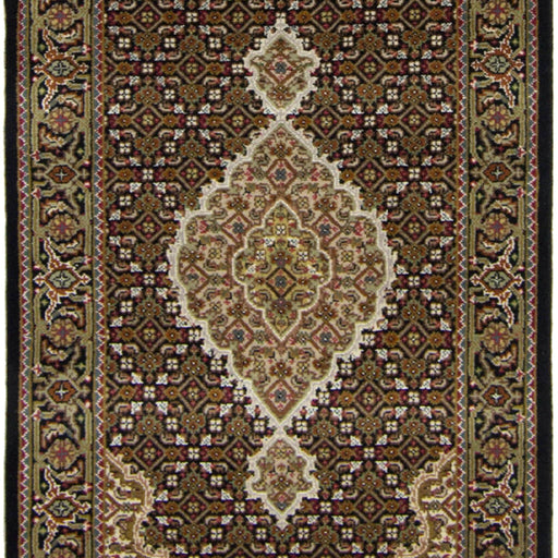 Super Fine Hand-knotted Wool and Silk Tabriz - Mahi Runner 82 cm x 402 cm - House Of Haghi