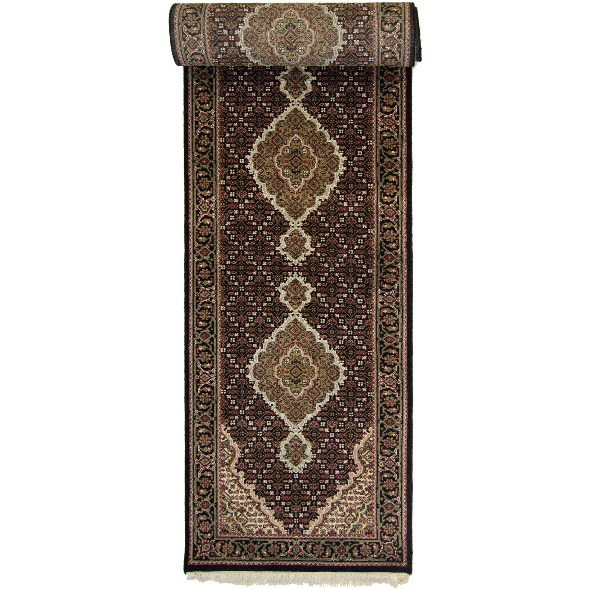 Super Fine Hand-knotted Wool and Silk Tabriz - Mahi Runner 85 cm x 308 cm Persian-Rug | House-of-Haghi | NewMarket | Auckland | NZ | Handmade Persian Rugs | Hand Knotted Persian Rugs