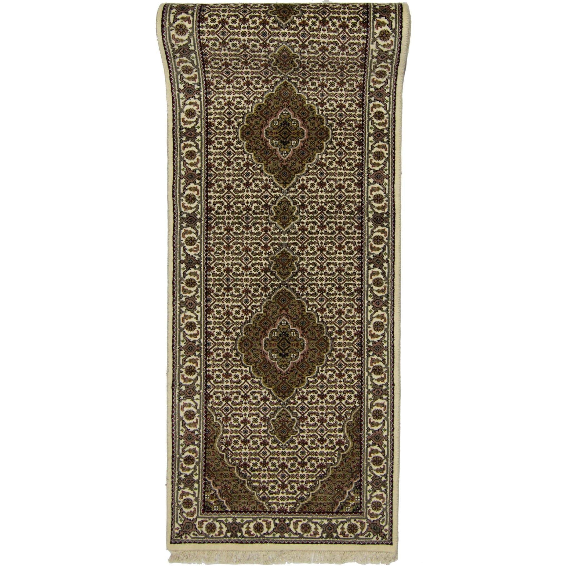 Fine Hand-knotted NZ Wool Tabriz-Mahi Design Runner 86cm x 300cm Persian-Rug | House-of-Haghi | NewMarket | Auckland | NZ | Handmade Persian Rugs | Hand Knotted Persian Rugs