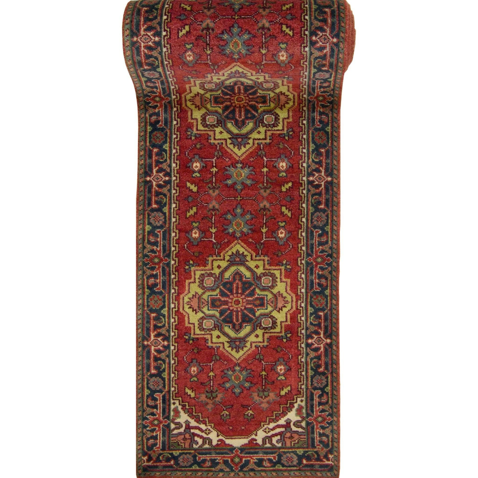 Hand-knotted Wool Persian Heriz Design Runner 78cm x 600cm Persian-Rug | House-of-Haghi | NewMarket | Auckland | NZ | Handmade Persian Rugs | Hand Knotted Persian Rugs