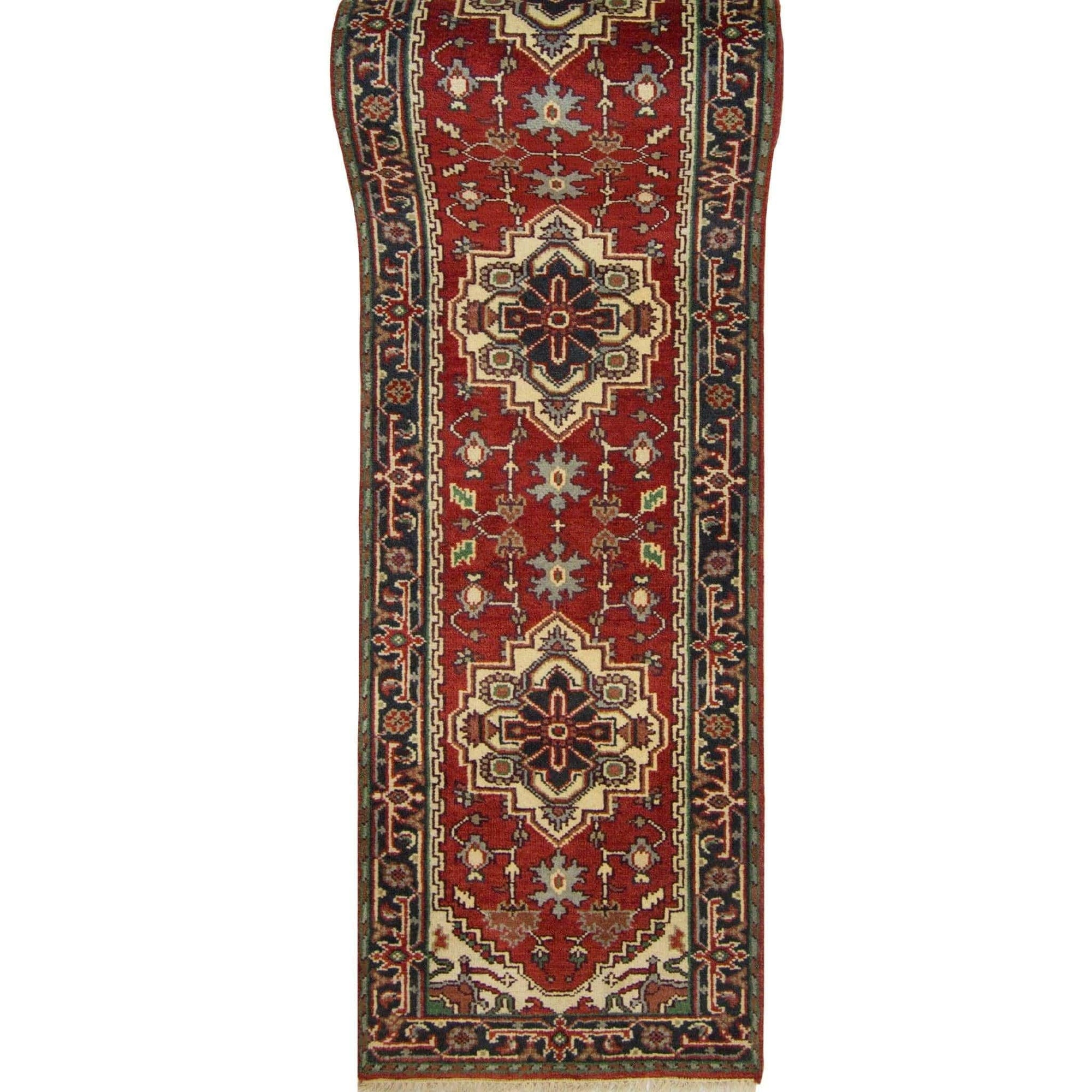 Hand-knotted Wool Persian Heriz Runner 80cm x 594cm Persian-Rug | House-of-Haghi | NewMarket | Auckland | NZ | Handmade Persian Rugs | Hand Knotted Persian Rugs