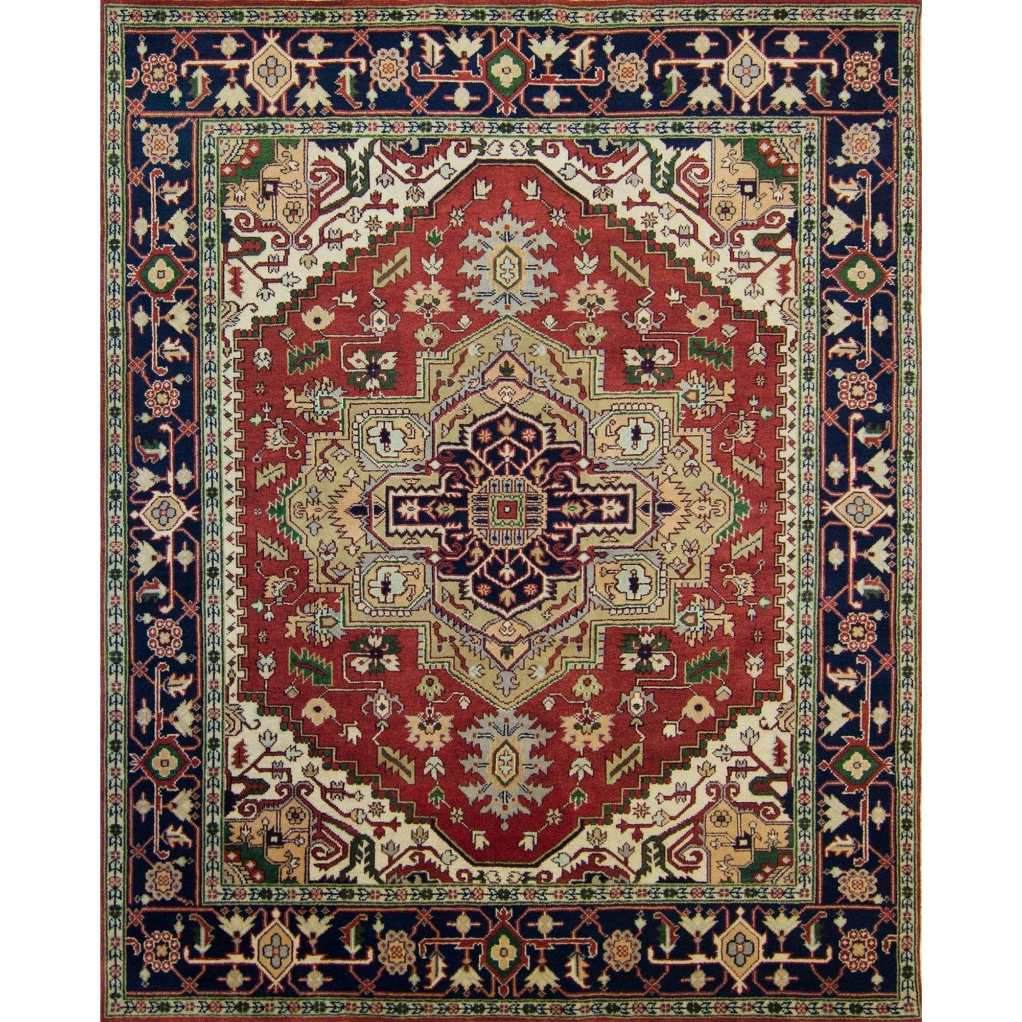 Hand-knotted Wool Persian Heriz Rug 238cm x 302cm Persian-Rug | House-of-Haghi | NewMarket | Auckland | NZ | Handmade Persian Rugs | Hand Knotted Persian Rugs