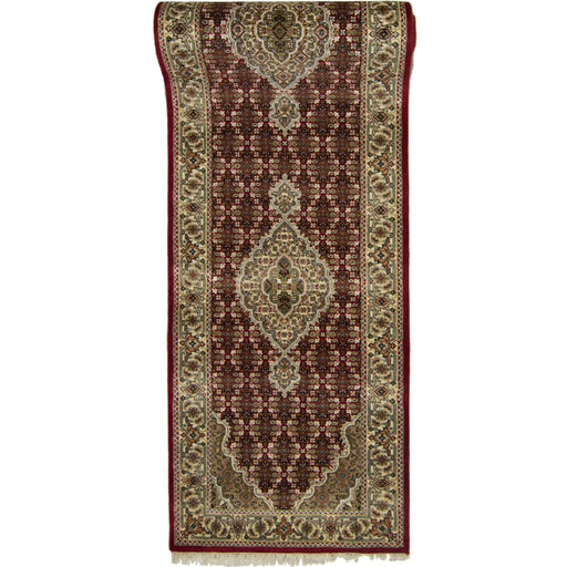 Fine Hand-knotted Tabriz-mahi Runner 81cm x 353cm - House Of Haghi