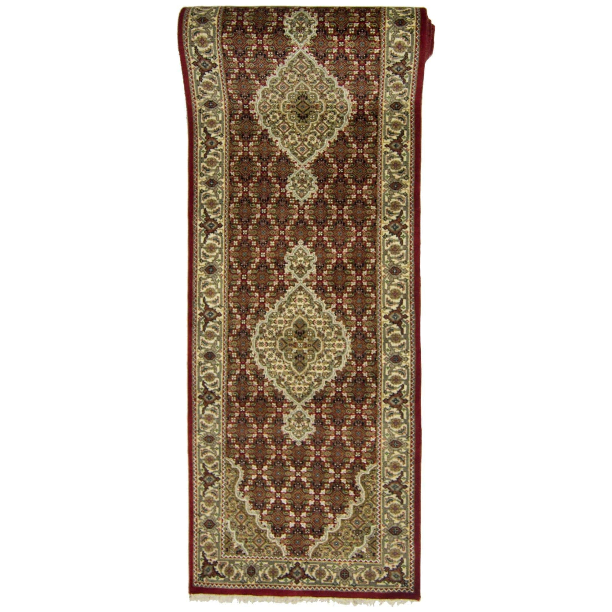 Fine Hand-knotted NZ Wool Tabriz-mahi Design Runner 82cm x 341cm Persian-Rug | House-of-Haghi | NewMarket | Auckland | NZ | Handmade Persian Rugs | Hand Knotted Persian Rugs