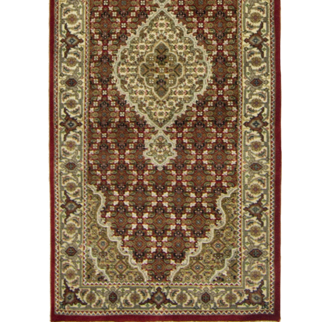 Fine Hand-knotted Tabriz-mahi Design Runner 82cm x 341cm - House Of Haghi