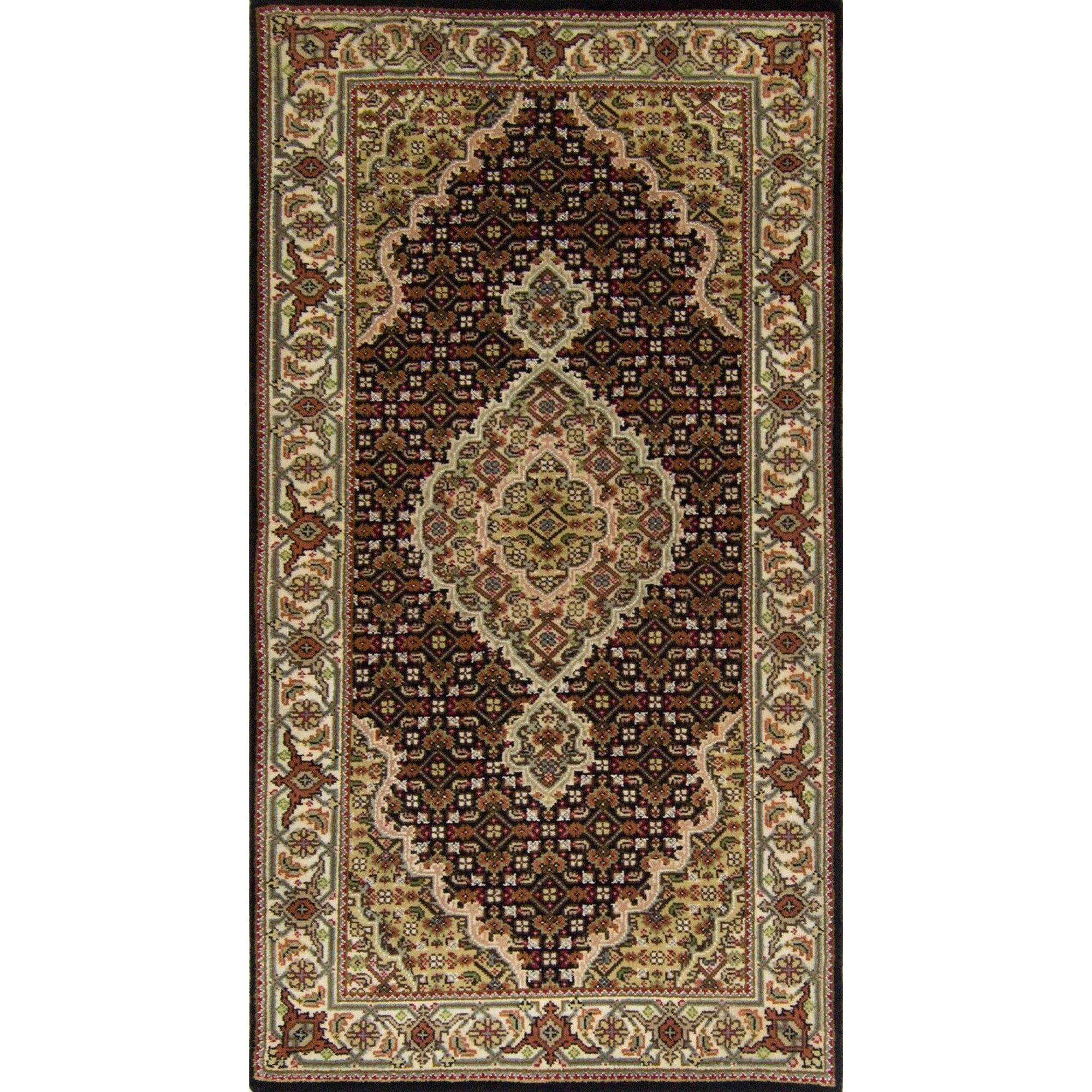 Fine Hand-knotted NZ Wool and Silk Tabriz - Mahi Rug 74cm x 138cm Persian-Rug | House-of-Haghi | NewMarket | Auckland | NZ | Handmade Persian Rugs | Hand Knotted Persian Rugs