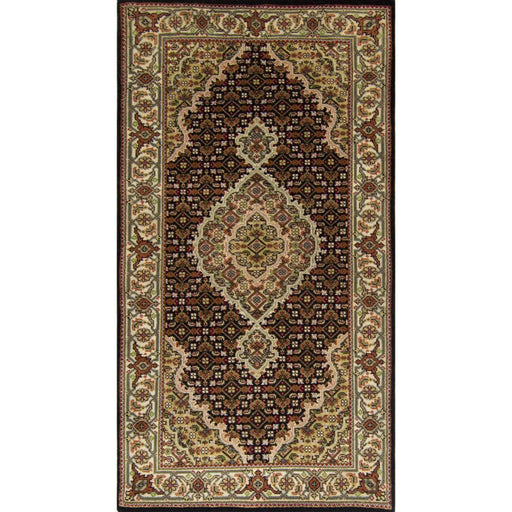 Fine Hand-knotted Wool and Silk Tabriz - Mahi Rug 74cm x 138cm - House Of Haghi