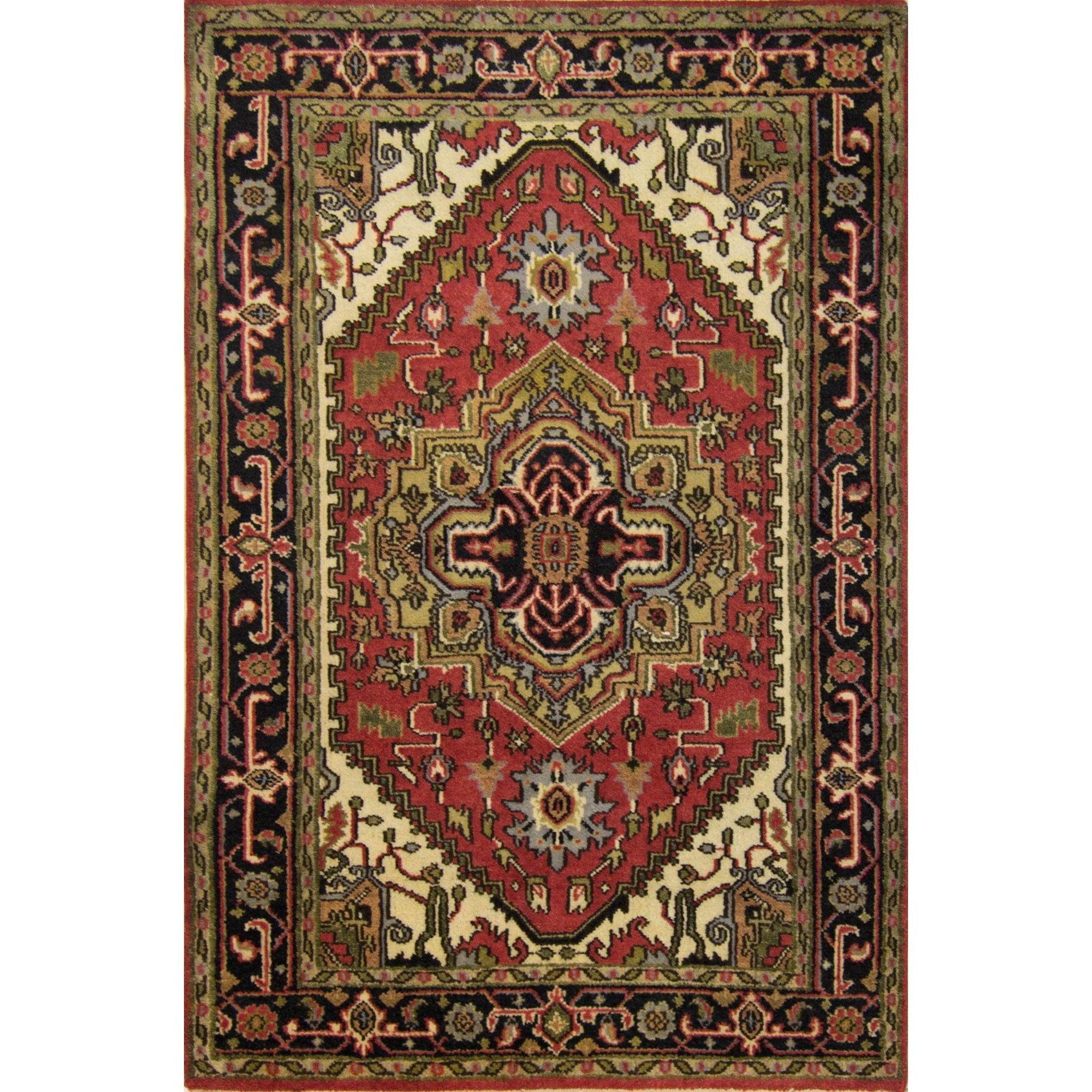 Hand-knotted Persian Wool Heriz Rug 120cm x 178cm Persian-Rug | House-of-Haghi | NewMarket | Auckland | NZ | Handmade Persian Rugs | Hand Knotted Persian Rugs