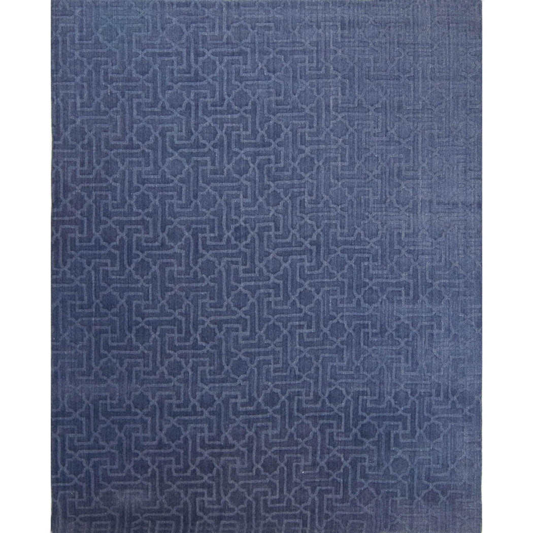 Modern Wool Hand-knotted Lattice Rug - House Of Haghi