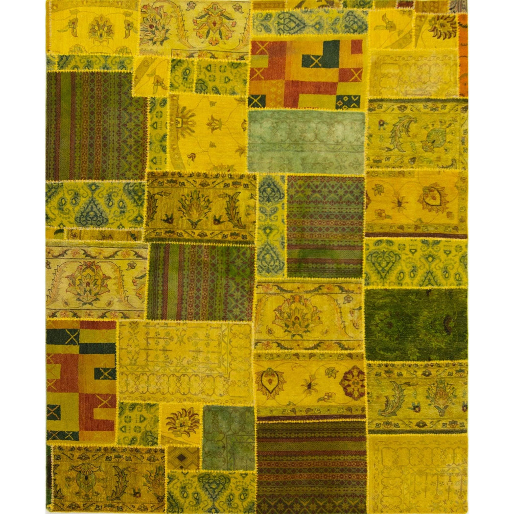 Hand-knotted Modern Wool Patchstitch Rug - House Of Haghi
