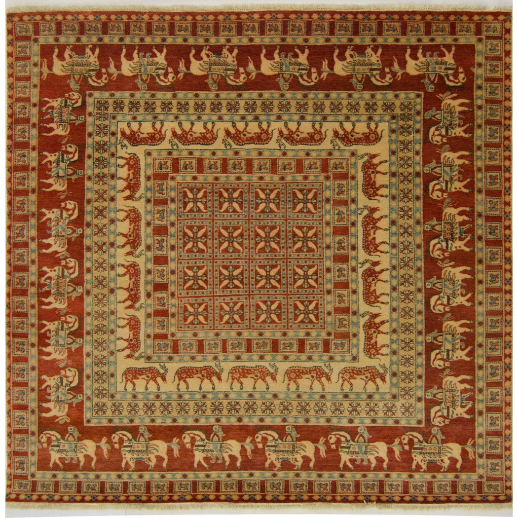2 x 2 Meter_[product_tag]_handmade_Square Rug - House of Haghi.