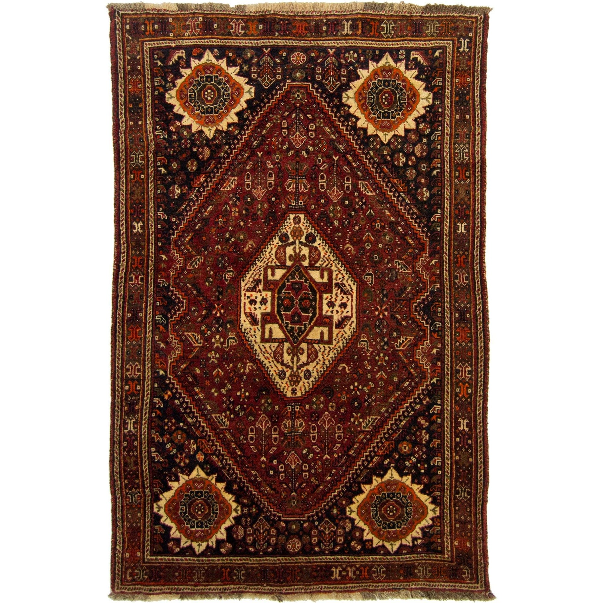 Fine Hand-knotted 100% Wool Persian Shiraz Rug 109cm x 173cm Persian-Rug | House-of-Haghi | NewMarket | Auckland | NZ | Handmade Persian Rugs | Hand Knotted Persian Rugs