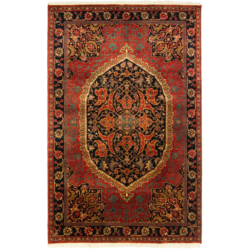 Fine Hand-knotted Wool Persian Farahan Design Rug 120cm x 181cm - House Of Haghi