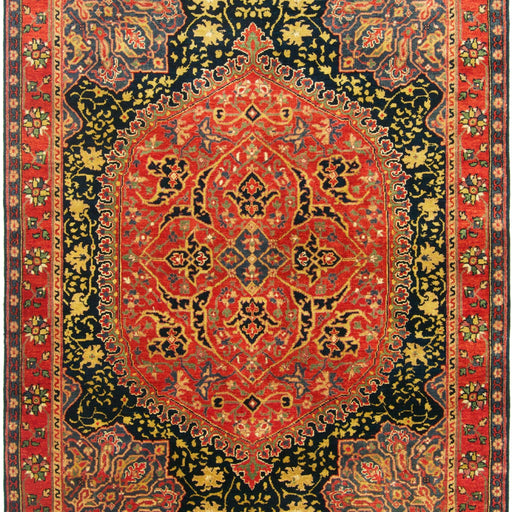 Fine Hand-knotted Wool Persian Farahan Design Rug 154cm x 213cm - House Of Haghi