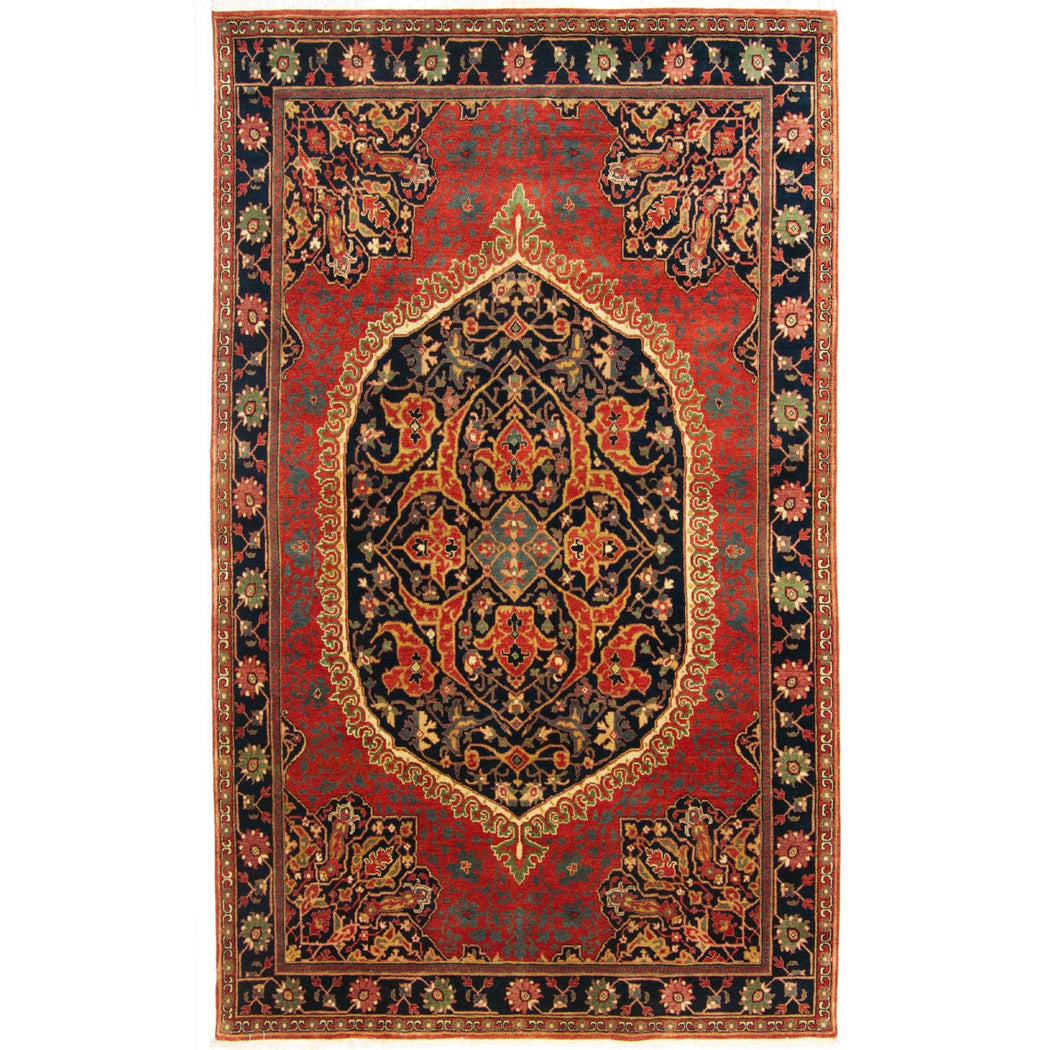 Fine Hand-knotted Wool Farahan Rug 183cm x 277cm - House Of Haghi