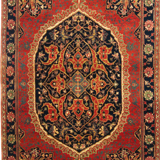 Fine Hand-knotted Wool Persian Farahan Design Rug 153cm x 214cm - House Of Haghi