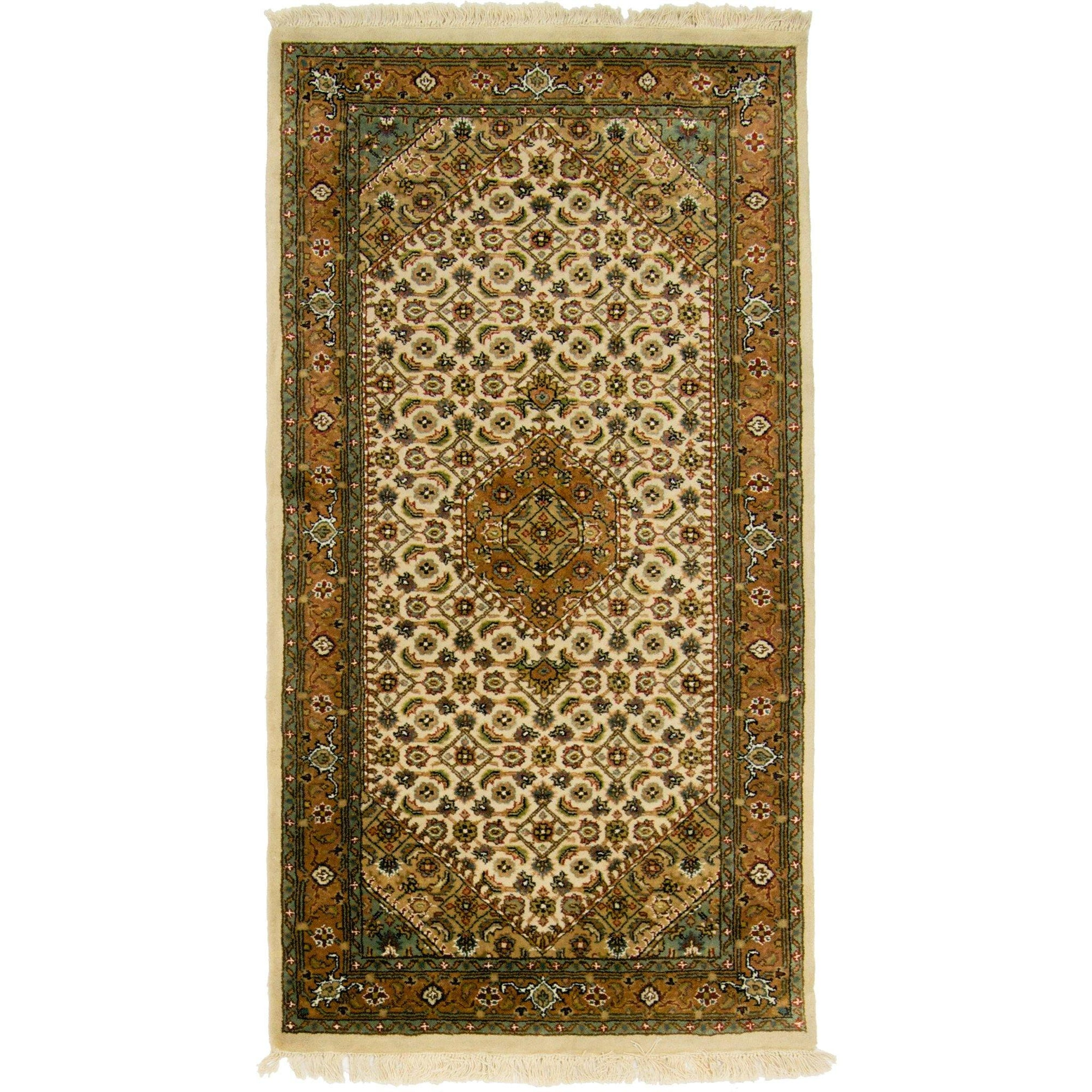 Fine Hand-knotted Wool Bijar Rug 70cm x 141cm Persian-Rug | House-of-Haghi | NewMarket | Auckland | NZ | Handmade Persian Rugs | Hand Knotted Persian Rugs
