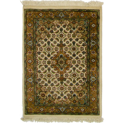 Fine Hand-knotted Wool Bijar Rug 61cm x 90cm - House Of Haghi