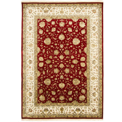Fine Wool & Silk Hand-knotted Kashan Rug 175cm x 241cm - House Of Haghi
