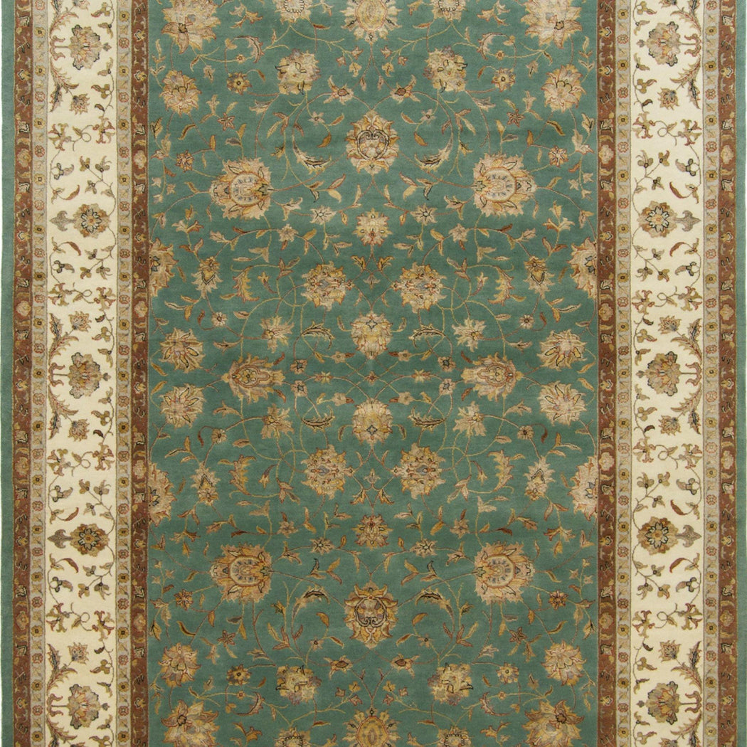 Fine Hand-knotted Wool & Silk Kashan Rug 201cm x 309cm - House Of Haghi