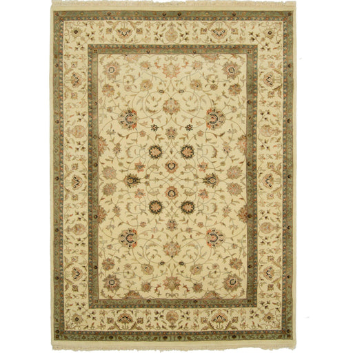 Fine Hand-knotted Wool & Silk Kashan Rug 196cm x 293cm - House Of Haghi