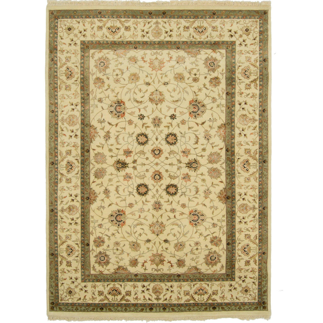 Fine Hand-knotted Wool & Silk Kashan Rug 196cm x 301cm - House Of Haghi