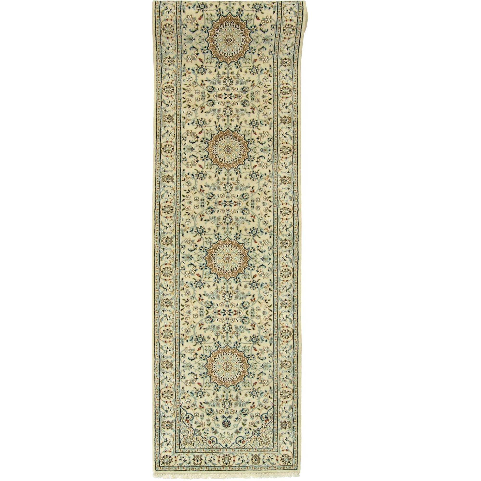 Fine Nain Hand-knotted Wool and Silk Nain Runner 81cm x 353cm Persian-Rug | House-of-Haghi | NewMarket | Auckland | NZ | Handmade Persian Rugs | Hand Knotted Persian Rugs