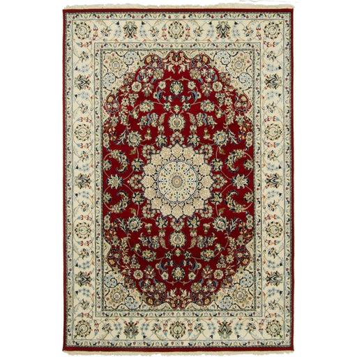 Fine Hand-knotted Wool & Silk Nain Rug 173cm x 249cm - House Of Haghi