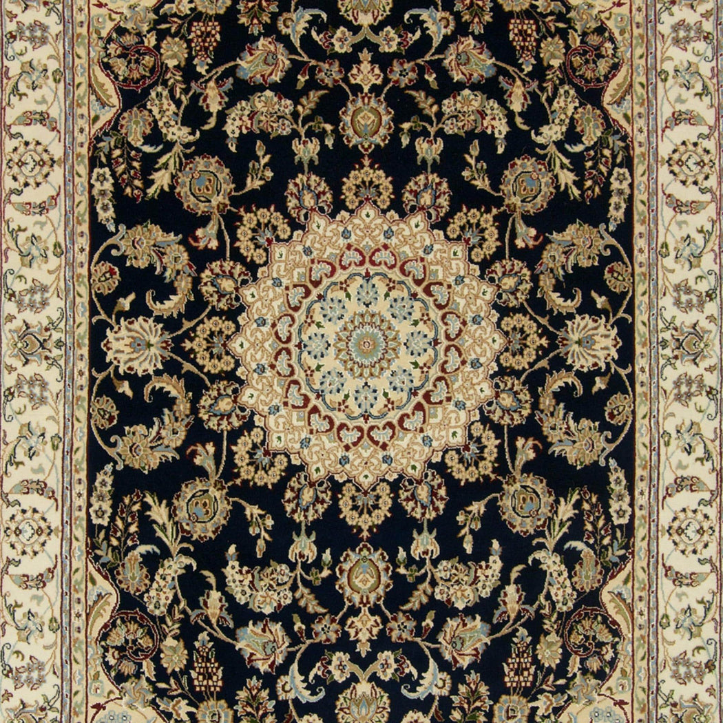 Fine Hand-knotted Wool & Silk Nain Rug 180cm x 272cm - House Of Haghi