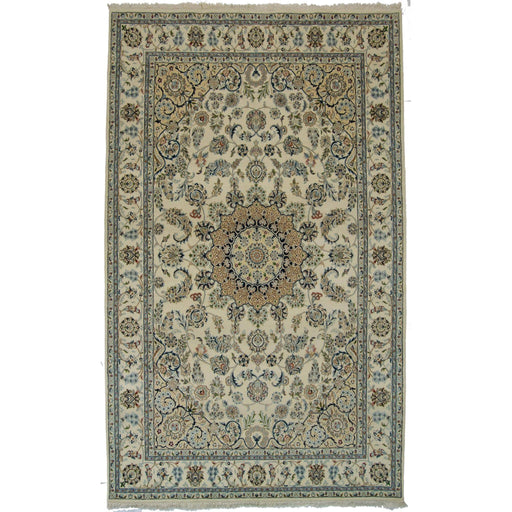 Fine Hand-knotted Wool & Silk Nain Rug 166cm x 246cm - House Of Haghi