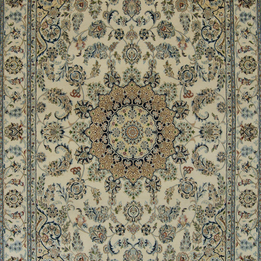 Fine Hand-knotted Wool & Silk Nain Rug 197cm x 300cm - House Of Haghi