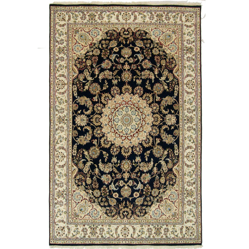 Fine Hand-knotted Wool & Silk Nain Rug 198cm x 305cm - House Of Haghi