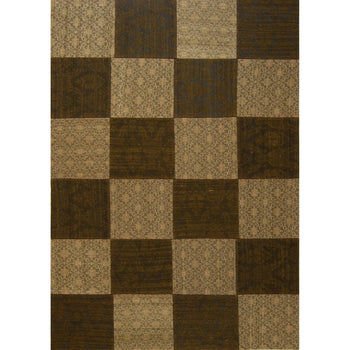 Hand-knotted Modern Wool Patchwork Rug 120cm x 175cm - House Of Haghi