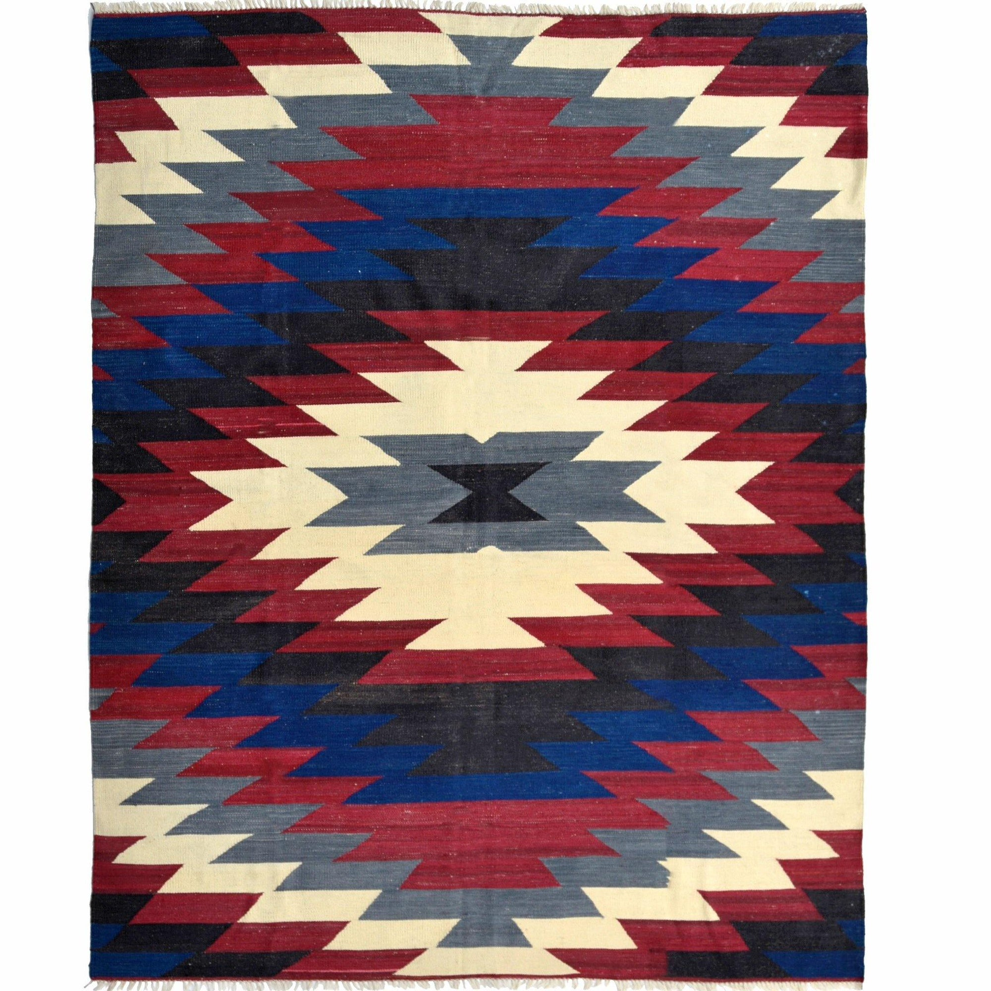Modern Hand-woven 100% Wool Afghan Chobi Kilim Rug 183cm x 234cm Persian-Rug | House-of-Haghi | NewMarket | Auckland | NZ | Handmade Persian Rugs | Hand Knotted Persian Rugs