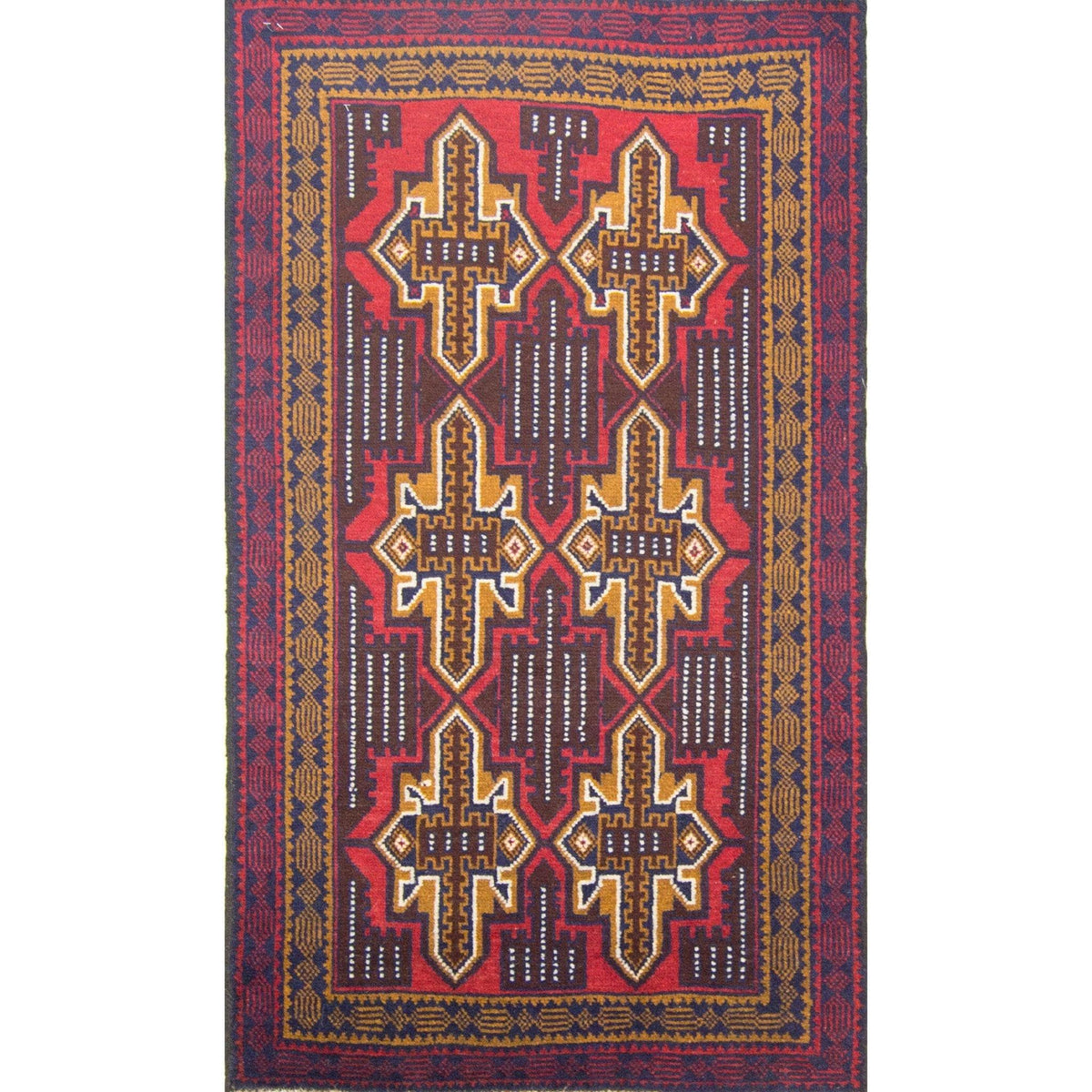 Hand-knotted Wool Baluchi Rug 86cm x 144cm Persian-Rug | House-of-Haghi | NewMarket | Auckland | NZ | Handmade Persian Rugs | Hand Knotted Persian Rugs