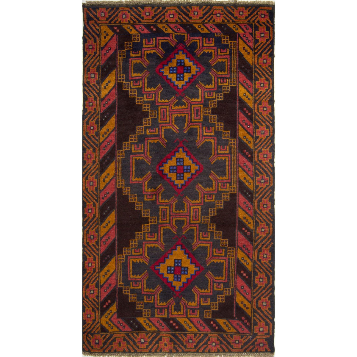 Hand-knotted Wool Baluchi Rug 104cm x 190cm Persian-Rug | House-of-Haghi | NewMarket | Auckland | NZ | Handmade Persian Rugs | Hand Knotted Persian Rugs