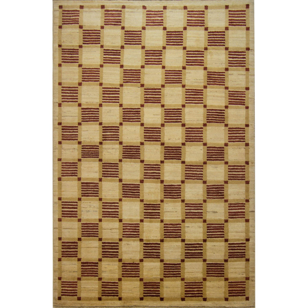 Modern Hand-knotted Wool Chobi Rug - House Of Haghi