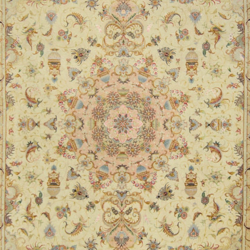 Super Fine Persian Hand-knotted Wool and Silk Tabriz Rug 251 cm x 356 cm - House Of Haghi