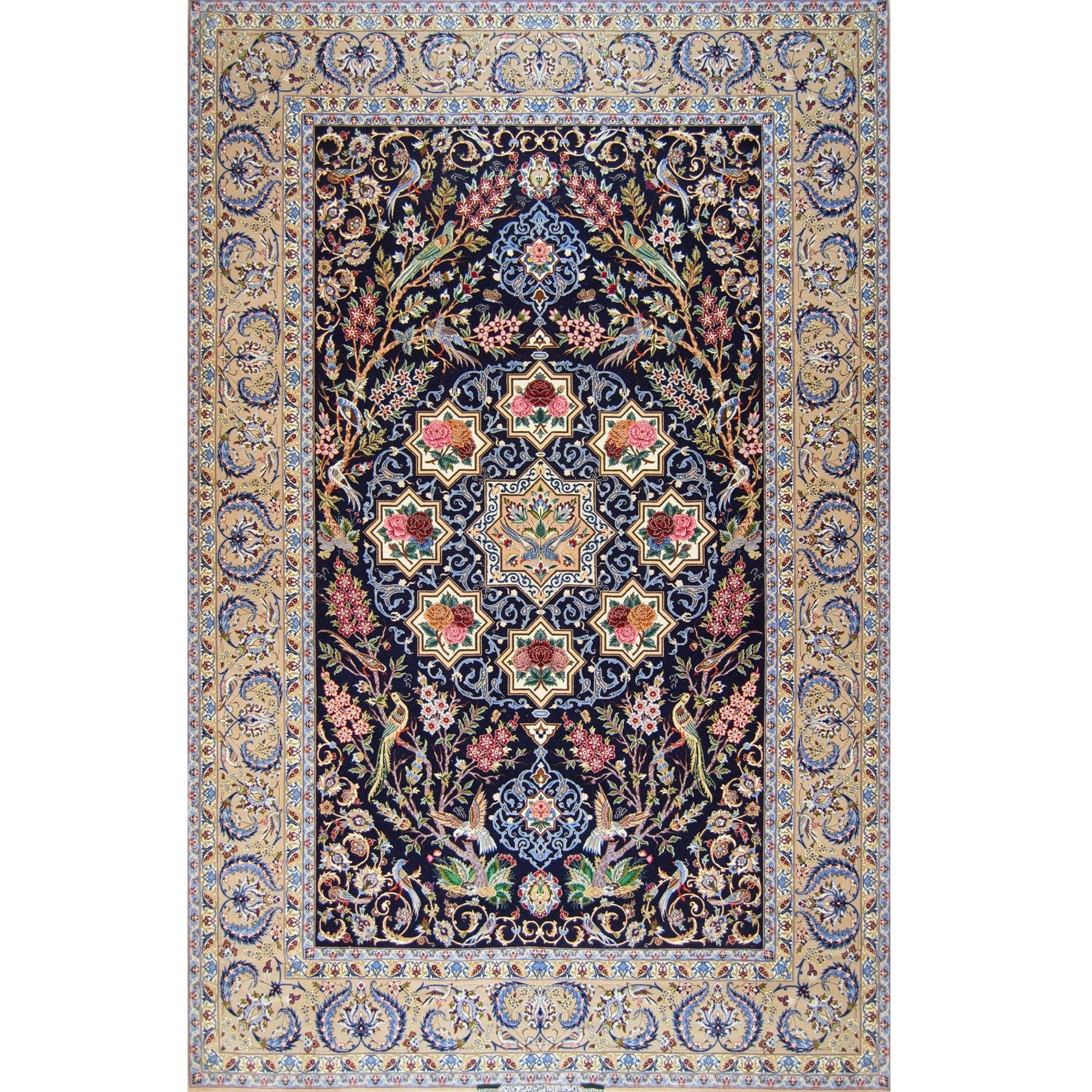 Genuine Super Fine Hand-knotted Wool Isfahan - Sierafian ( SINGED ) Persian-Rug | House-of-Haghi | NewMarket | Auckland | NZ | Handmade Persian Rugs | Hand Knotted Persian Rugs