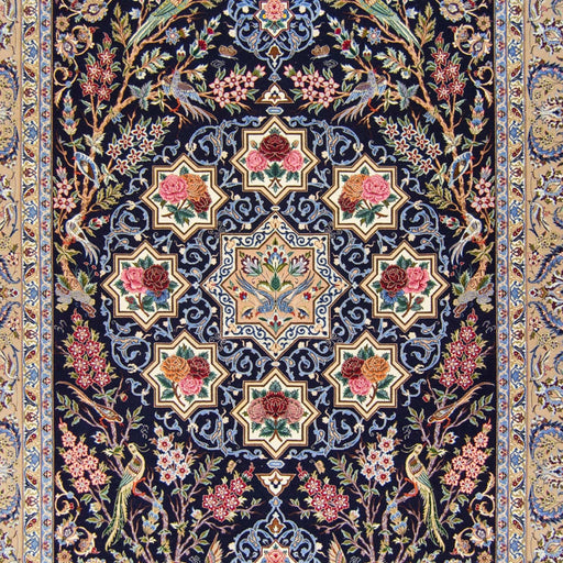 Genuine Super Fine Hand-knotted Wool Isfahan - Sierafian ( SINGED ) Rug 208cm x 314cm - House Of Haghi