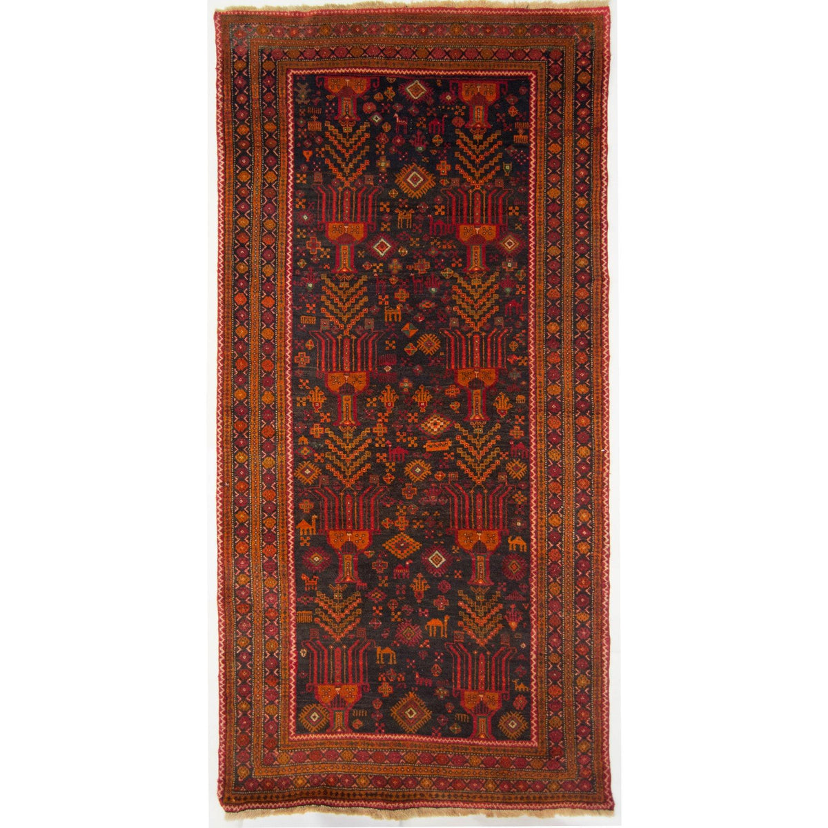Vintage Tribal Persian Baluchi Runner 110cm x 235cm Persian-Rug | House-of-Haghi | NewMarket | Auckland | NZ | Handmade Persian Rugs | Hand Knotted Persian Rugs