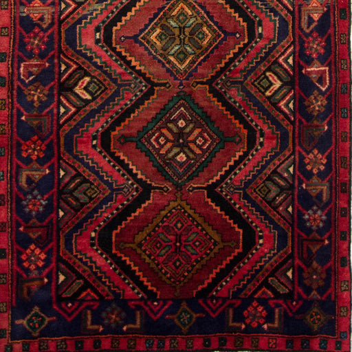 Hand-knotted Wool Tribal Persian Hamadan Runner 124cm x 293cm - House Of Haghi