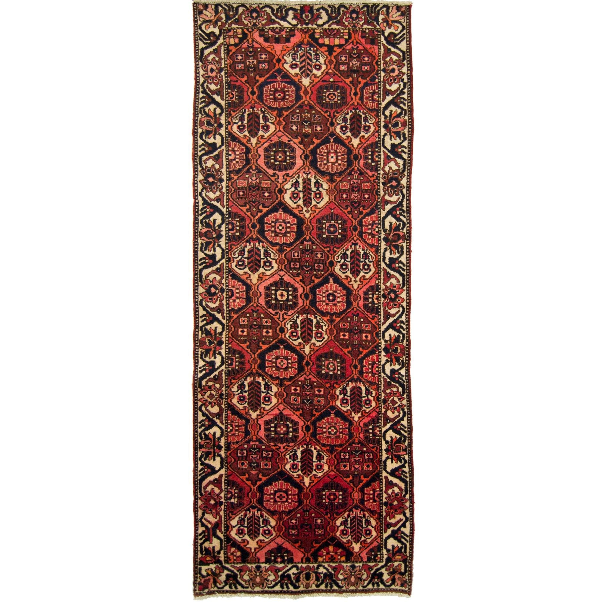 Beautiful Hand-knotted Persian Wool Bakhtiari Runner 105cm x 289cm Persian-Rug | House-of-Haghi | NewMarket | Auckland | NZ | Handmade Persian Rugs | Hand Knotted Persian Rugs