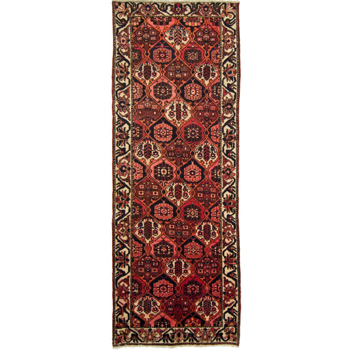 1 x 3 Meter_Persian_Beautiful Hand-knotted Persian Wool Bakhtiari Runner_handknotted_Runner
