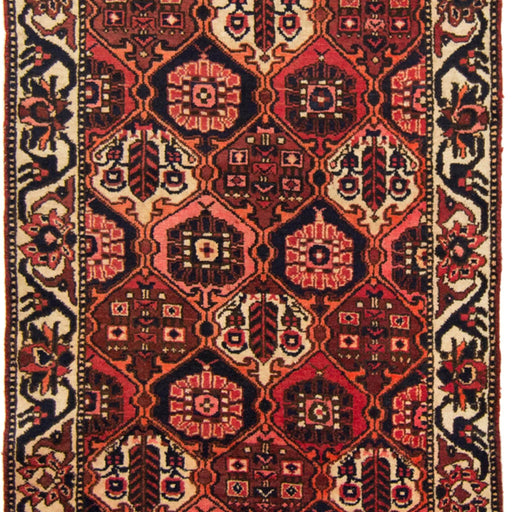 Beautiful Hand-knotted Persian Wool Bakhtiari Runner 105cm x 289cm - House Of Haghi