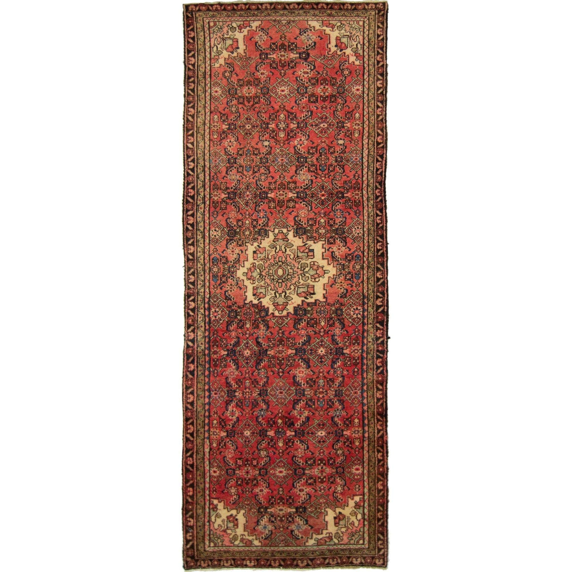 Hand-knotted Tribal Persian Wool Hamadan Runner 100cm x 293cm Persian-Rug | House-of-Haghi | NewMarket | Auckland | NZ | Handmade Persian Rugs | Hand Knotted Persian Rugs