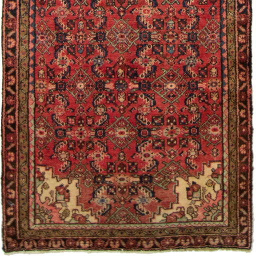 Hand-knotted Tribal Persian Wool Hamadan Runner 100cm x 293cm - House Of Haghi