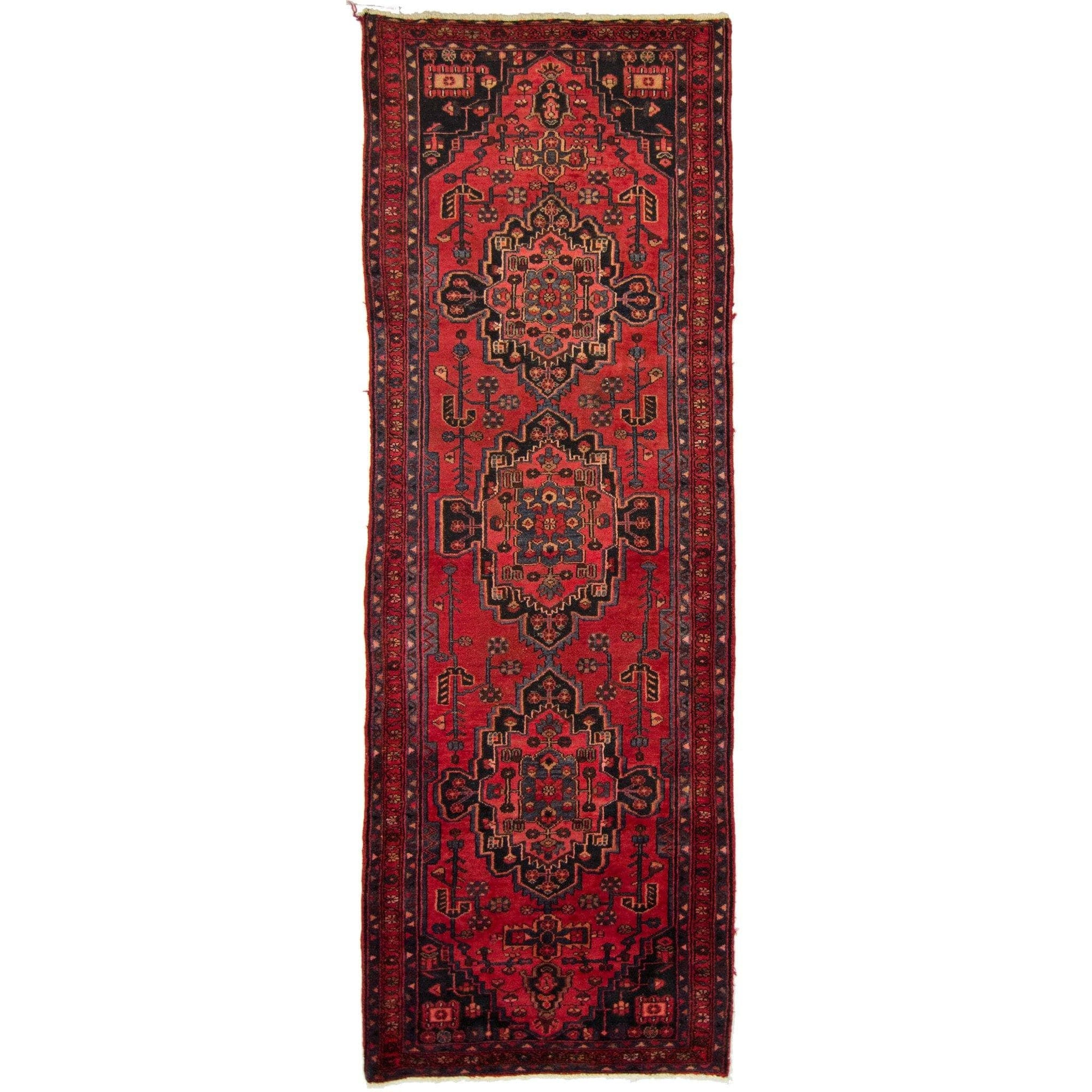 Authentic Persian Hand-knotted Wool Hamadan Runner 100cm x 293cm Persian-Rug | House-of-Haghi | NewMarket | Auckland | NZ | Handmade Persian Rugs | Hand Knotted Persian Rugs